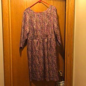 Isaac Mizrahi floral brocade dress size 20w new